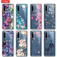 Caso Floral flores para Xiaomi Redmi Nota 8T 9 8 7 Pro MI nota 10 9 10T 9T Pro SE A2 A3 Lite 6X F1 Poco X3 de teléfono TPU suave Fundas