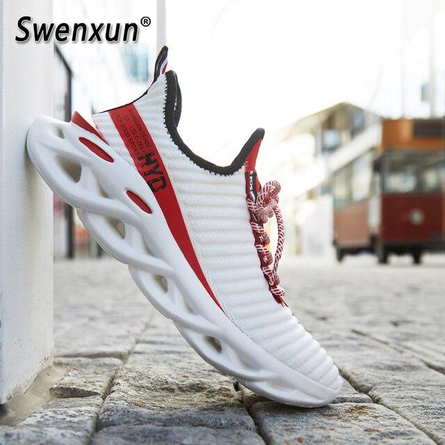 זוג נעלי ספורט קלאסי גברים של נעליים יומיומיות החלקה נעלי הליכה קל משקל Tenis Masculino אופנה Zapatos דה Hombre