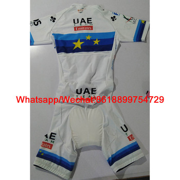 2020 Europe Champion Uae Team Emirates Cycling Skinsuit Custom Bike Triathlon One-piece Bodysuit TriSuit Speed Ciclismo Jumpsuit 3