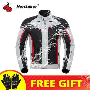 HEROBIKER kurtka motocyklowa mężczyźni wiatroszczelna kurtka do jazdy Motocross garnitur ochronny sprzęt zimowy mężczyźni odzież motocyklowa odporna na zimno tanie i dobre opinie CN (pochodzenie) 100 poliester MC1009 Waterproof Keep Warm Breathable Windproof Motorycele Jacket Protection Guard Protective Gear Protectors