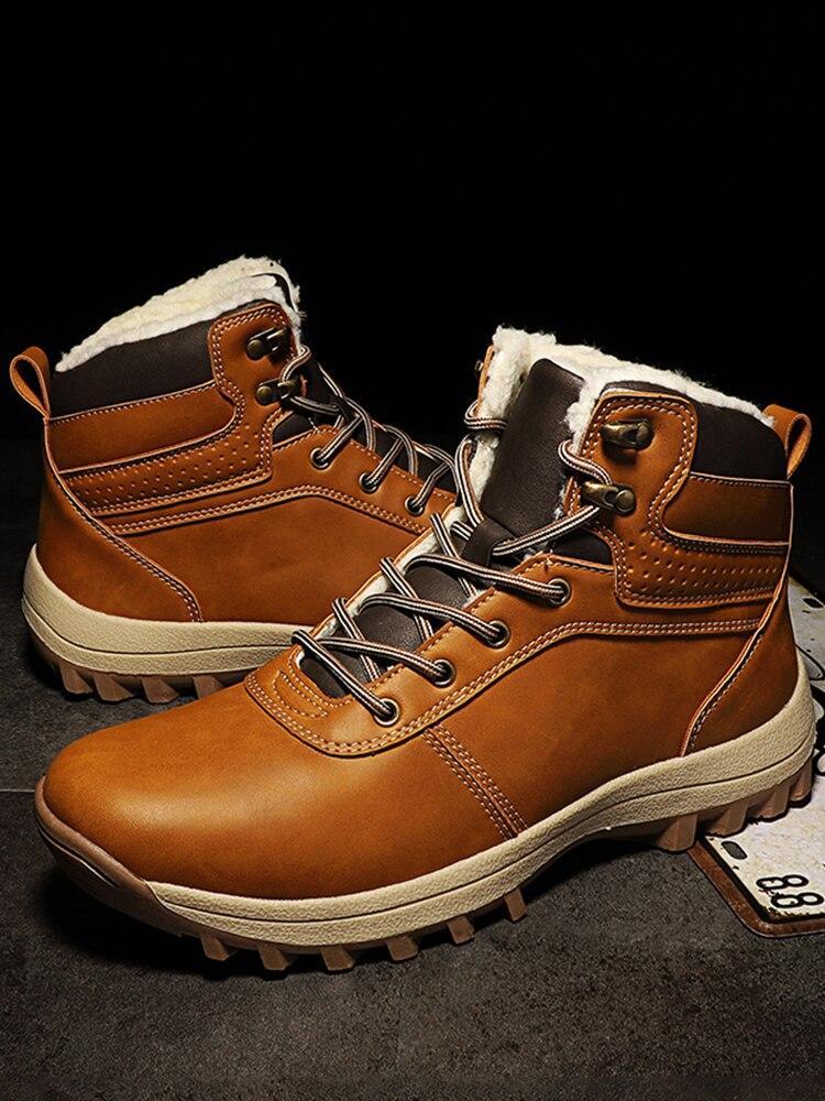 DEKABR Winter Boots Waterproof Trendy Genuine-Leather Casual Footwear Man Plush Ankle
