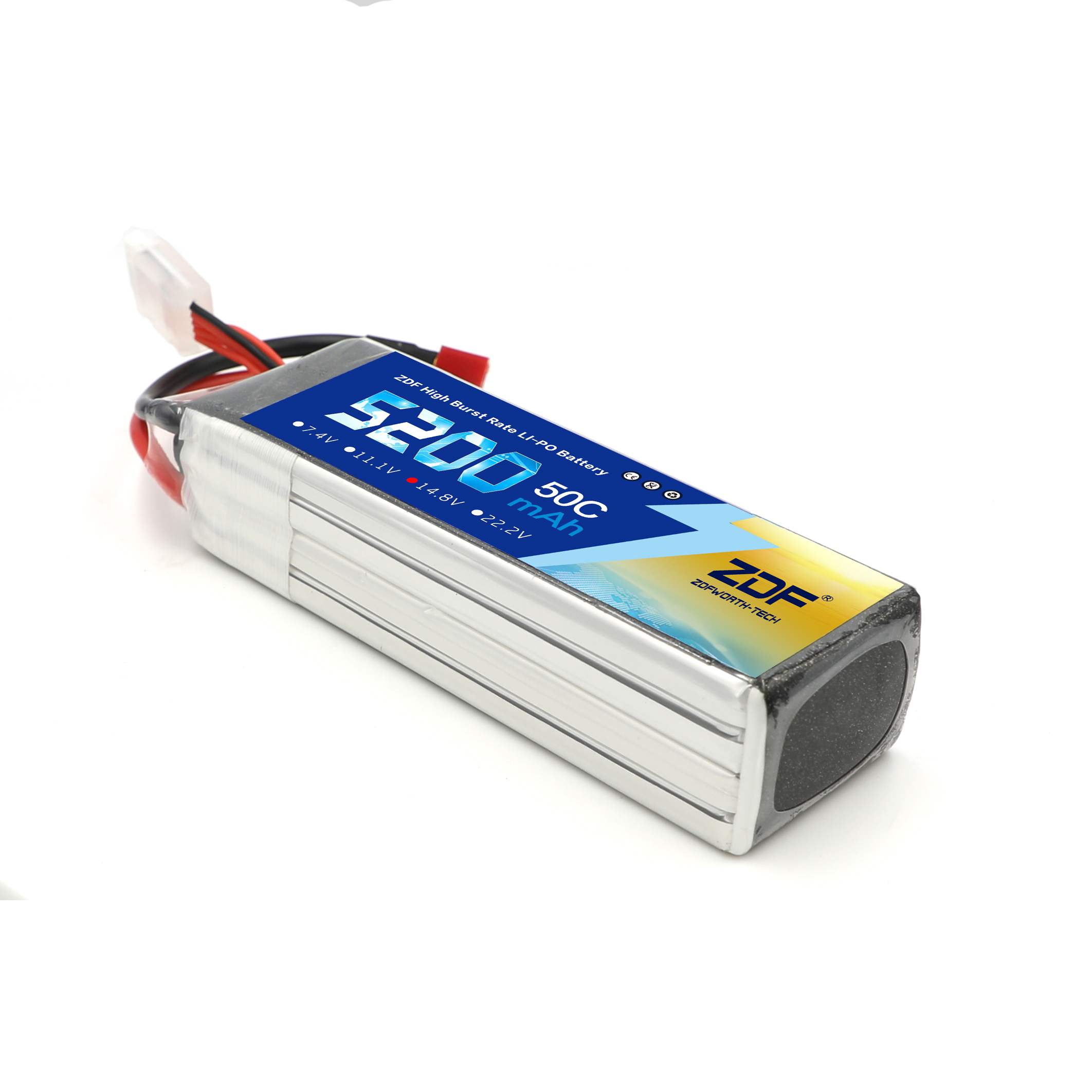 ZDF RC Battery 14.8V <font><b>5200Mah</b></font> 50C <font><b>Lipo</b></font> Battery for RC Airplane Boat Car Quadcopter Helicopter image