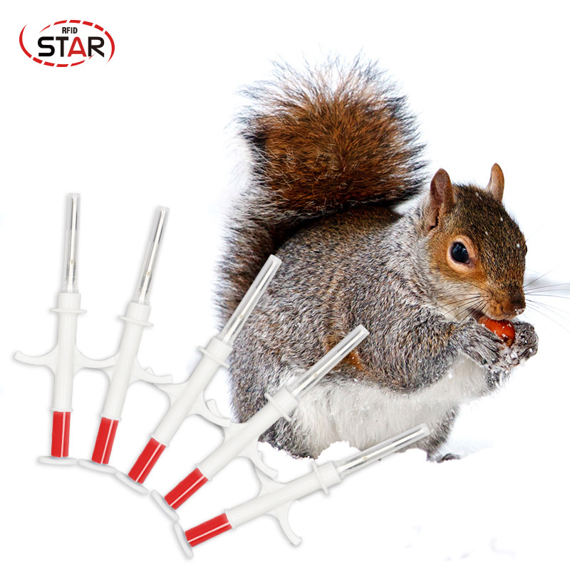 (70pcs/lot)2.12*12mm Pet Microchip Animal Microchip Transponder ISO11784/5 FDX-B RFID Dog Chip Syringe Injector