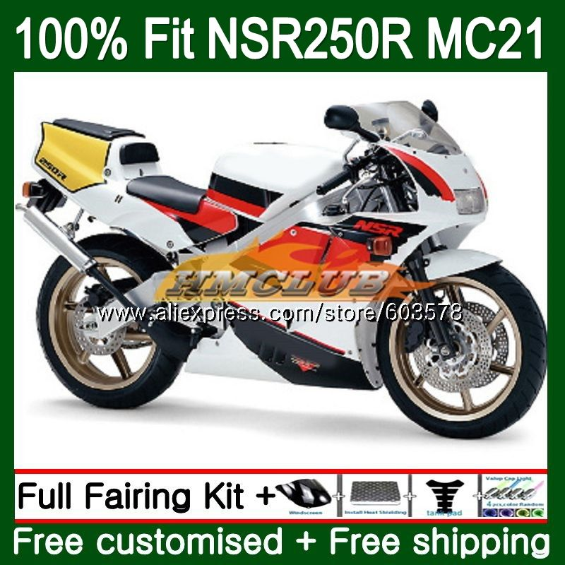 Injection For HONDA NSR250R MC21 PGM3 1990 1991 1992 1993 Red White 101CL.75 <font><b>NSR</b></font> <font><b>250</b></font> R NSR250 RR <font><b>NSR</b></font> 250R 90 91 92 93 Fairing image