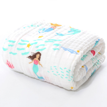 cotton baby bath towel mermaid