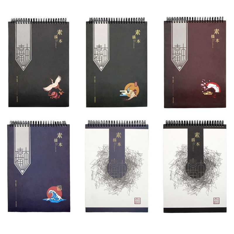 50Sheets A4 Paper Watercolor Sketch Book Notepad for Painting Drawing Sketchbook