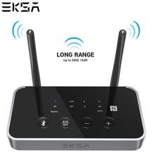 EKSA ET04 3 في 1 بلوتوث 5.0 جهاز إرسال سمعي استقبال CSR8675 بلوتوث محول البصرية/3.5 مللي متر AUX/SPDIF لسماعات التلفزيون