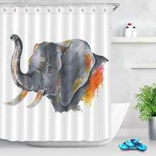 Животные Слон занавески для душа мультфильм дизайн ткань печать
