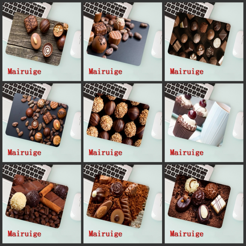 Mairuige Big Promotion Laptop Mouse Pad Delicious Chocolate   Small Size 180 * 220  2mm
