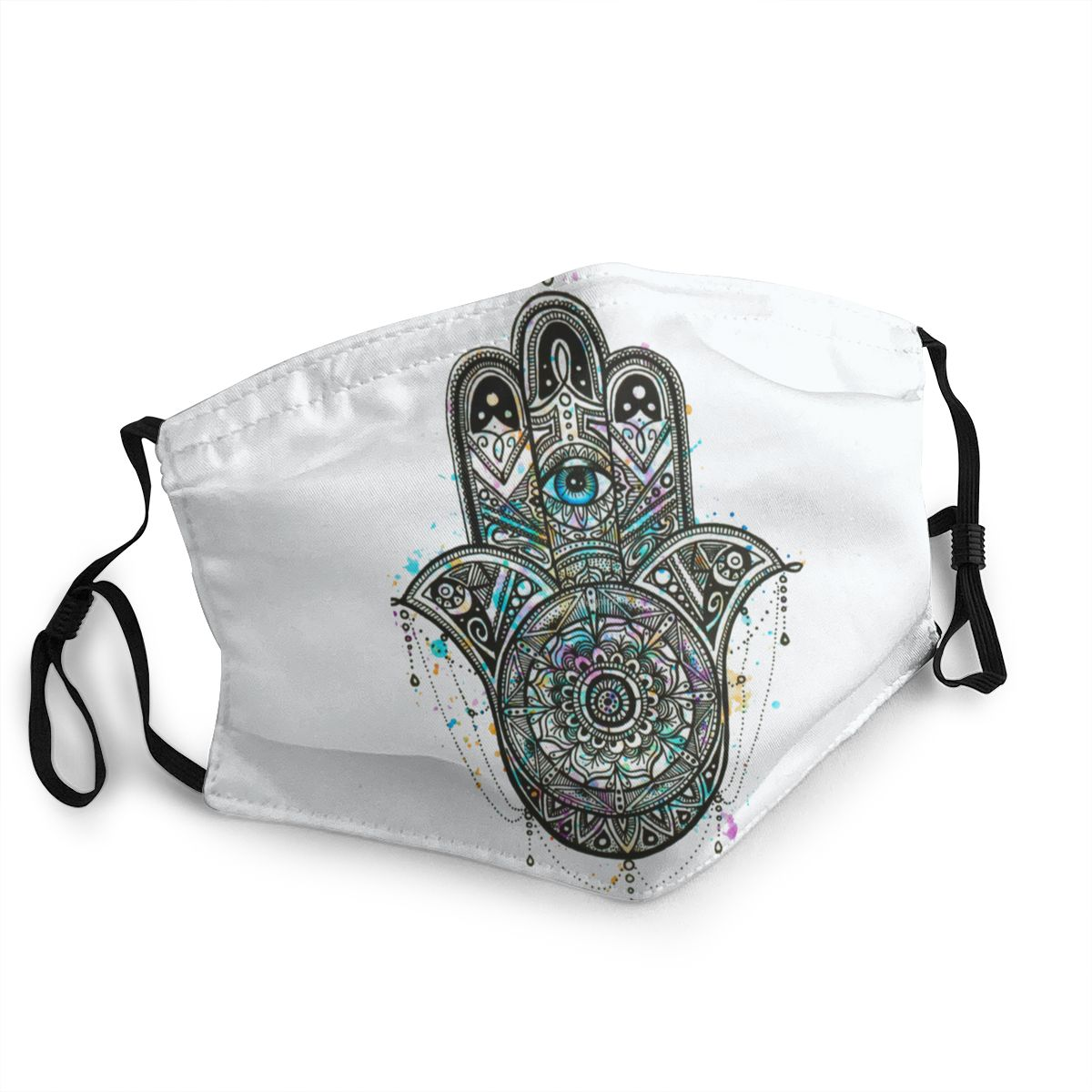 Hand Of Fatima Psychedelic Unisex Reusable Face Mask Anti Haze Dust Mask Protection Mask Respirator Mouth Muffle