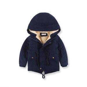Image 2 - ฤดูหนาวหนาขนแกะHoodedเด็กเสื้อSwallow Tailedเด็กแจ็คเก็ตWindproofเด็กOuterwearสำหรับ90 140ซม.