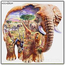 Алмазная живопись со слоном «сделай сам» животные мир полная