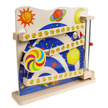 Traditional training toys children's early education enlightenment wooden marble slideway clearance game parent-child interactio