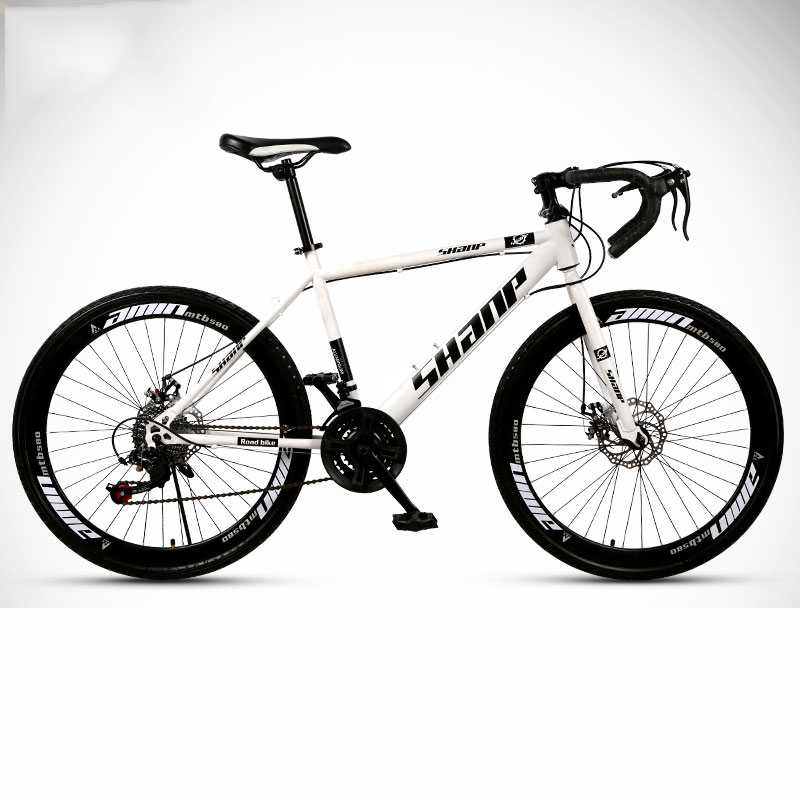 Road Bike Mountain Double Disc Brakes Shock Absorber 26 Inch 24 Speed Man And Women Students Bicycle