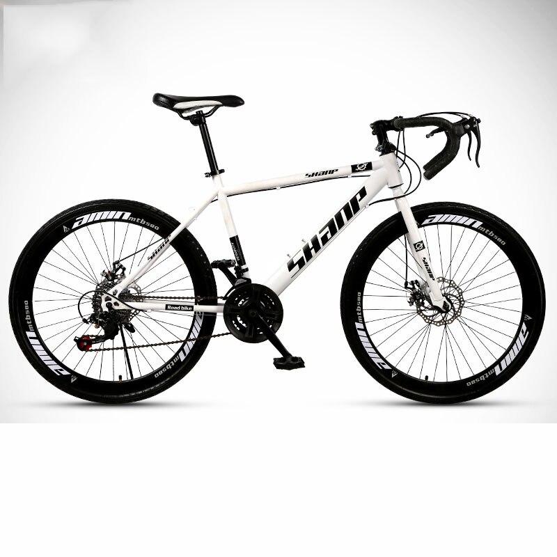 Spor ve Eğlence'ten Bisiklet'de Yol bisikleti dağ çift disk frenler amortisör değişken hız erkek ve kadın öğrenciler bisiklet yeni