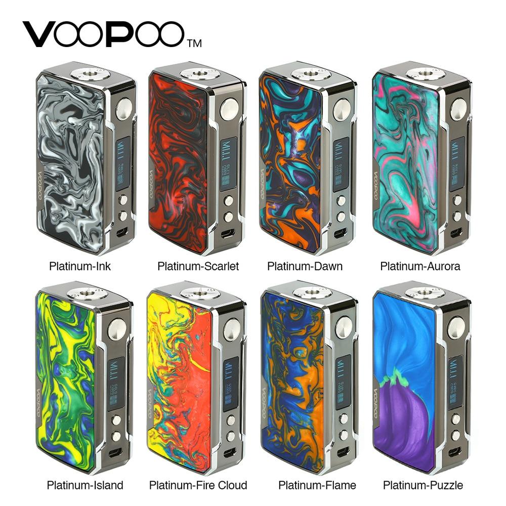 Original 177W VOOPOO Drag 2 Platinum Mod Vs Drag 2 Box MOD No 18650 Battery Vape Vaporizer E Cig Vs Gen Mod / Shogun/ Drag Nano