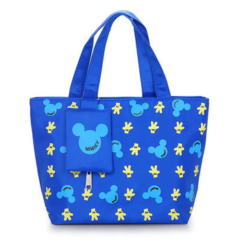 Nuevo Bolso pequeño portátil de tela de nylon impermeable de Disney, bolso de mano informal de moda para madre con monedero
