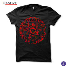 2019 Newest Letter Print Transmutation T Shirt  Fullmetal Alchemist Full Metal Casual Man Tees