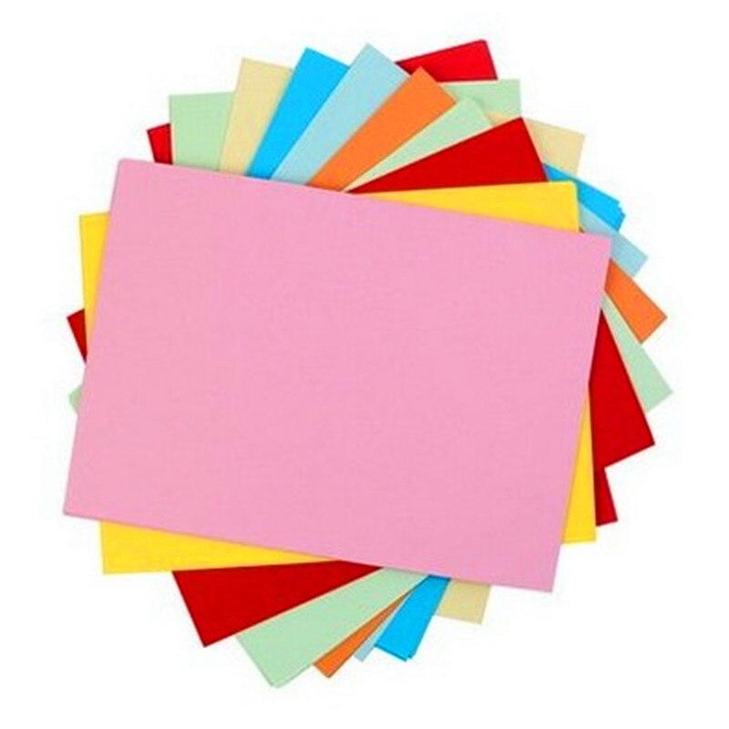 100 folhas a4 papel de copia da cor 80g multi cor papel nao revestido 12 cores