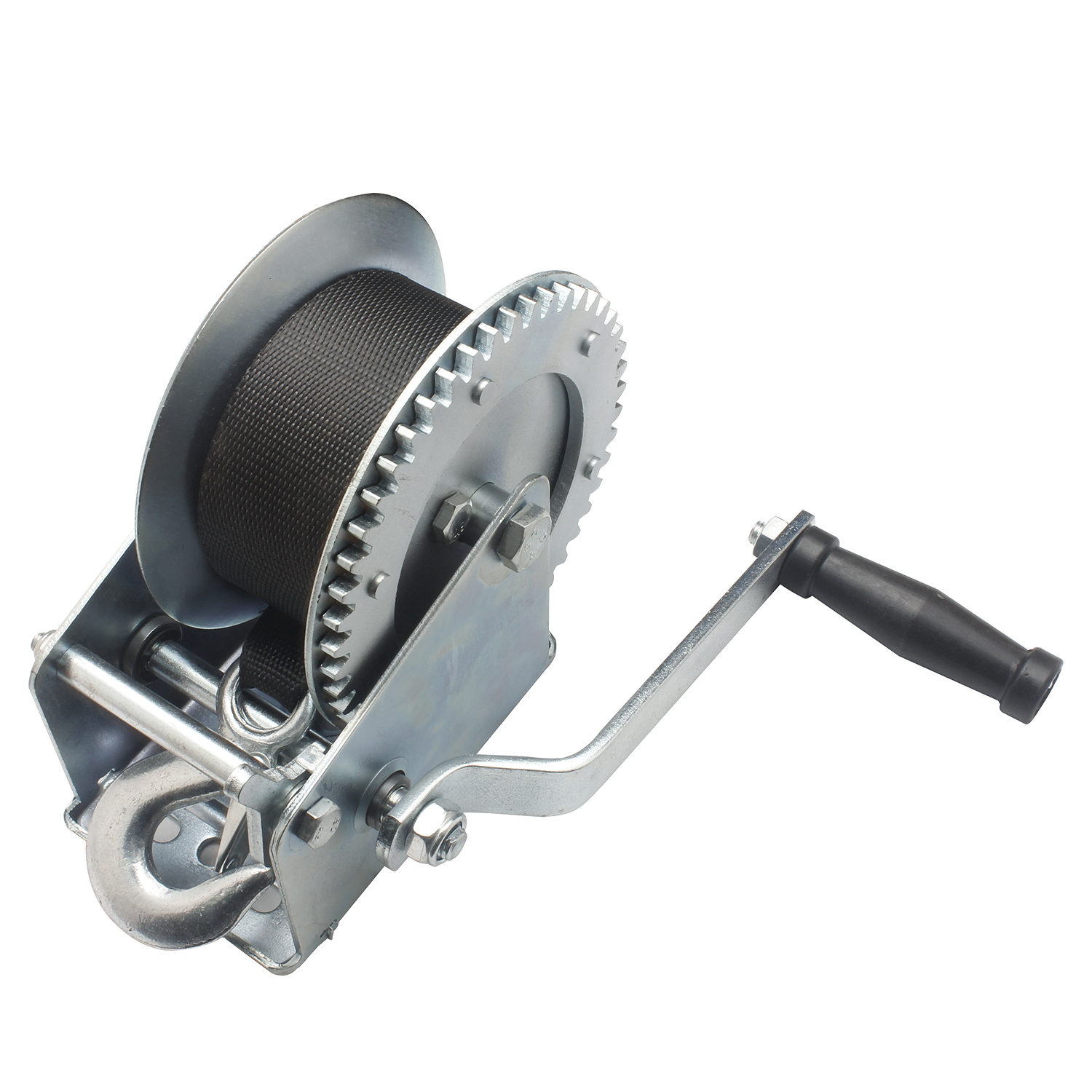 1600lb Hand Manual Winch Trailer Strong Gear Winch With 7 Meters Ribbon Boat Windlass Truck Auto Portable Manual Winchs