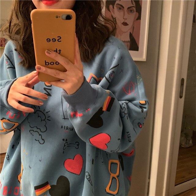 2020 Spring Couple Models Cotton Fashion Hoodies Teen Street Hip Hop Pastel Sweatshirt for men And Women Printing Loose Hoodie 8