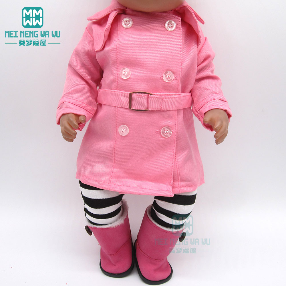 Doll Clothes Stewardess Three-piece Suit For For 43cm New Born Doll And American Doll Accessories