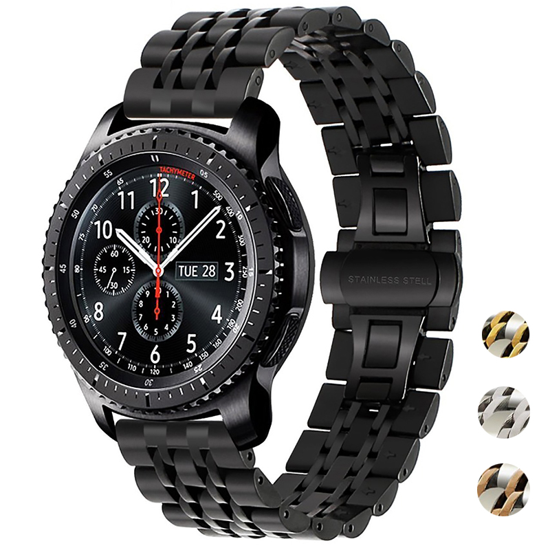 20mm 22mm Stainless Steel Watchband For Samsung Galaxy Watch Gear S3 S2 Classic Amazift HUAWEI Watch Band Wrist Strap