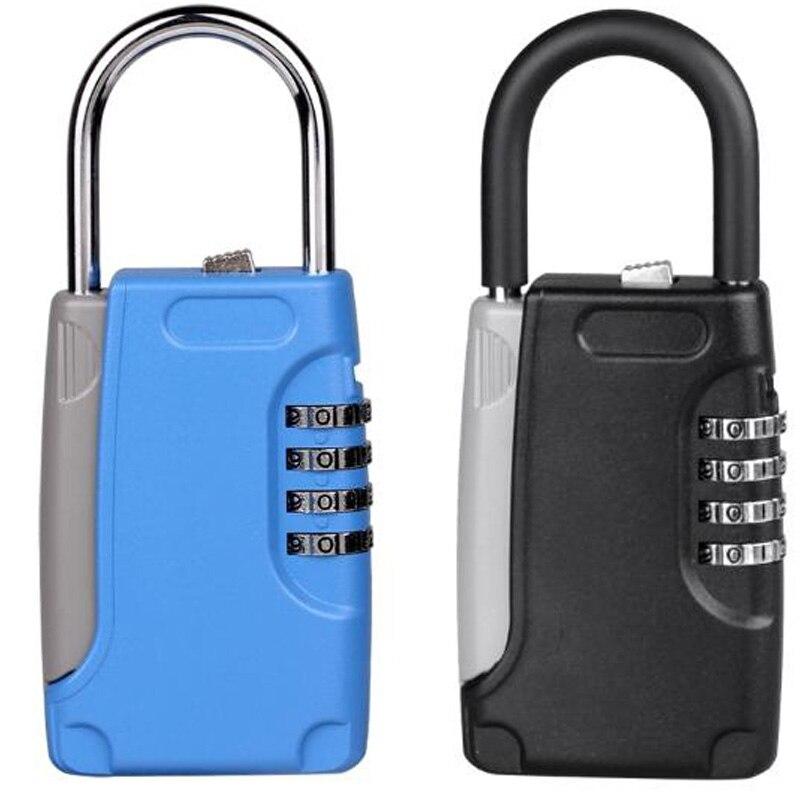 Metal Mechanical Key Storage Box Box Metal Hook Type Password Key Box Key Safe