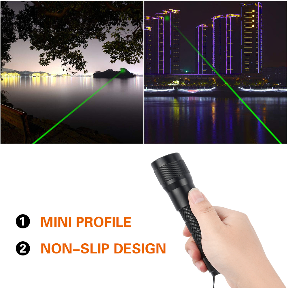 Mini Portable Laser Point Pen High Power Green/Blue Laser Projector Multifunctional IP67 Rechargeable 450nm Laser Flashlight