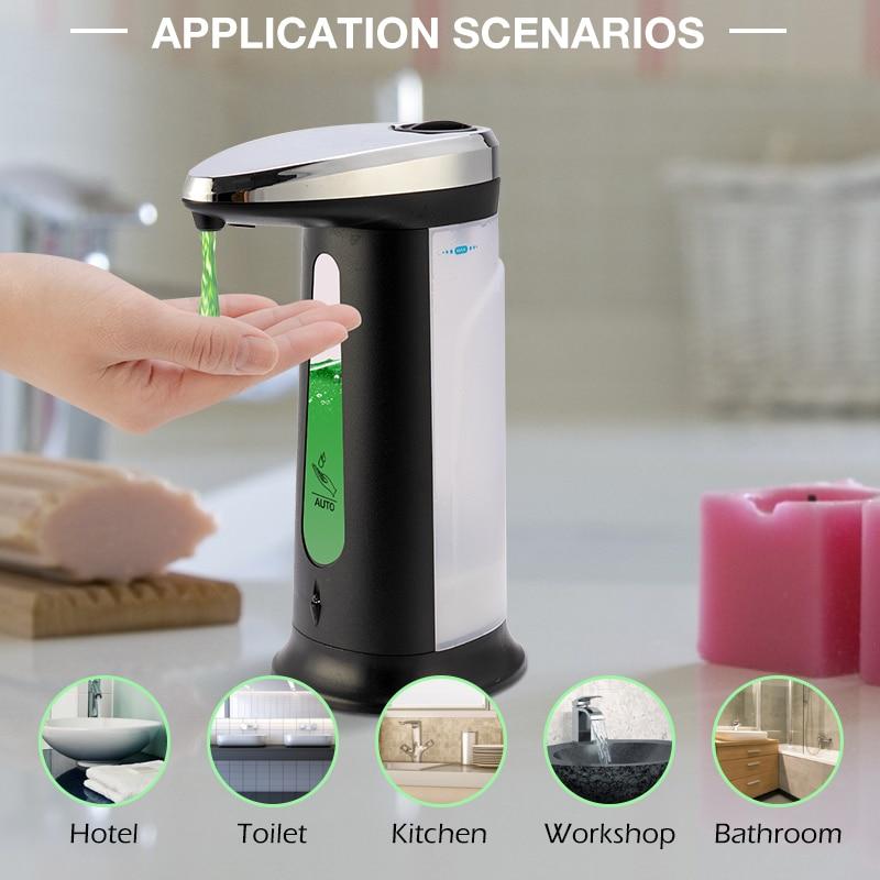400Ml Liquid Soap Dispenser Automatic Smart Sensor Touchless Sanitizer Dispensador Bottle For Kitchen Bathroom Soap Dispenser