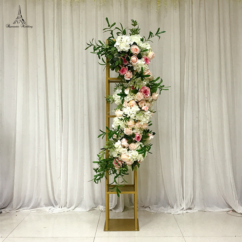Round RGB LED Display Base Exhibition Stand for Wedding Table Floral Decoration