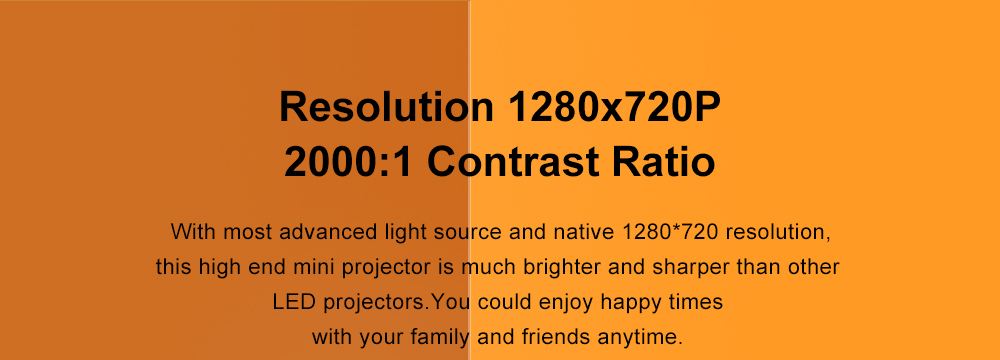 ThundeaL Mini Projector TD90 Update Native 1280 x 720P Portable Projector TD90 40 Degree Keystone Android WiFi 3D Home Cinema