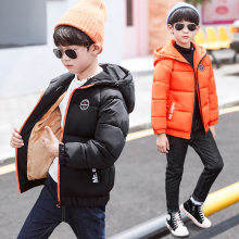 2019 Big Boys Winter Hooded Jakcet Coat Kids Winter Jacket for Boy Hoodies Cotton Padded Parka Boy Kids Winter Clothes For Teens цена в Москве и Питере
