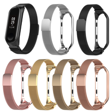 2019 Metal Wrist Strap For Xiaomi Mi Band 3 Miband 4 Stainless Steel Bracelet Replacement
