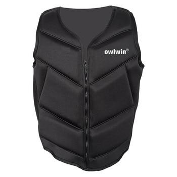 Owlwin, chaqueta a la moda musculosa para la vida para niños adultos, gran flotabilidad, chaqueta de corcho, pesca descenso de ríos, surf, snorkel