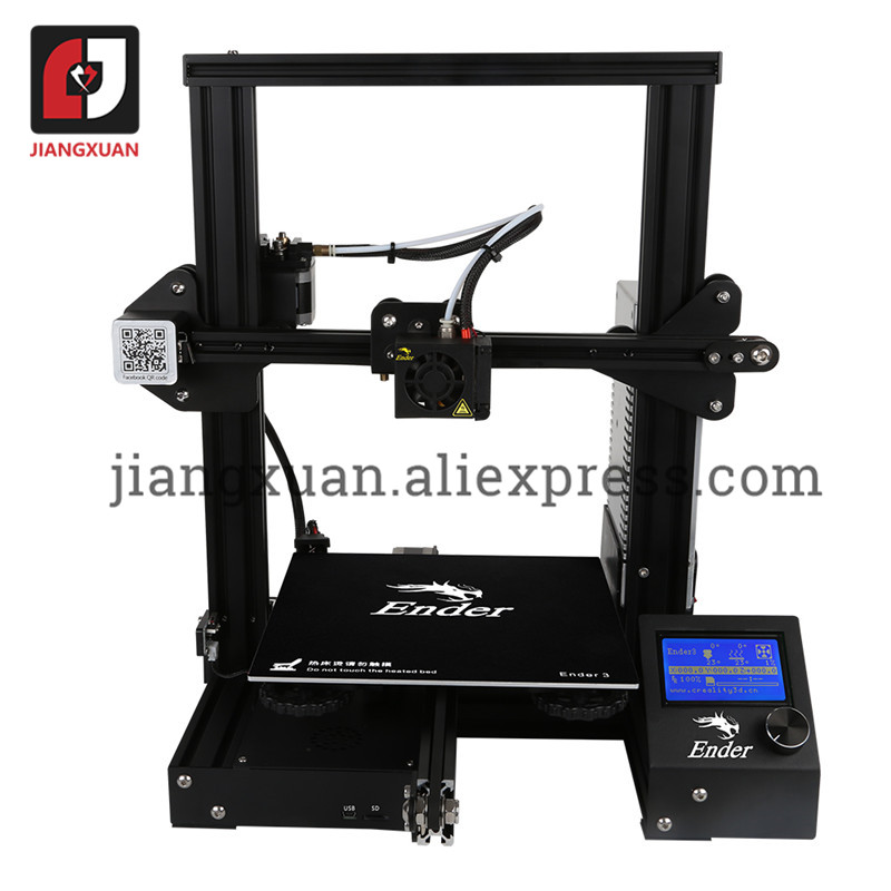 3D Printer Ender-3 V-slot Resume Power Failure Printing DIY KIT Hotbed Upgraded Tempered Glass Optional