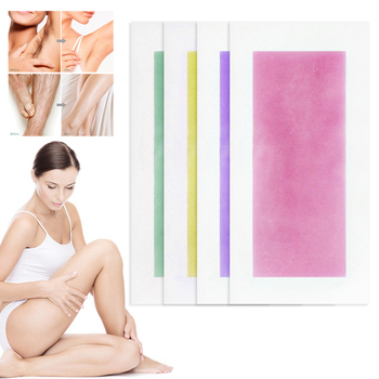 10 Pairs Hair Removal Wax Strips Papers Natural Beeswax Double Side Depilation Uprooted Silky For All Body Beauty Tool