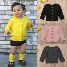 Newborn Infant Baby Girl Boy Clothes Front Open Knit Sweater Romper Top Jumpsuit