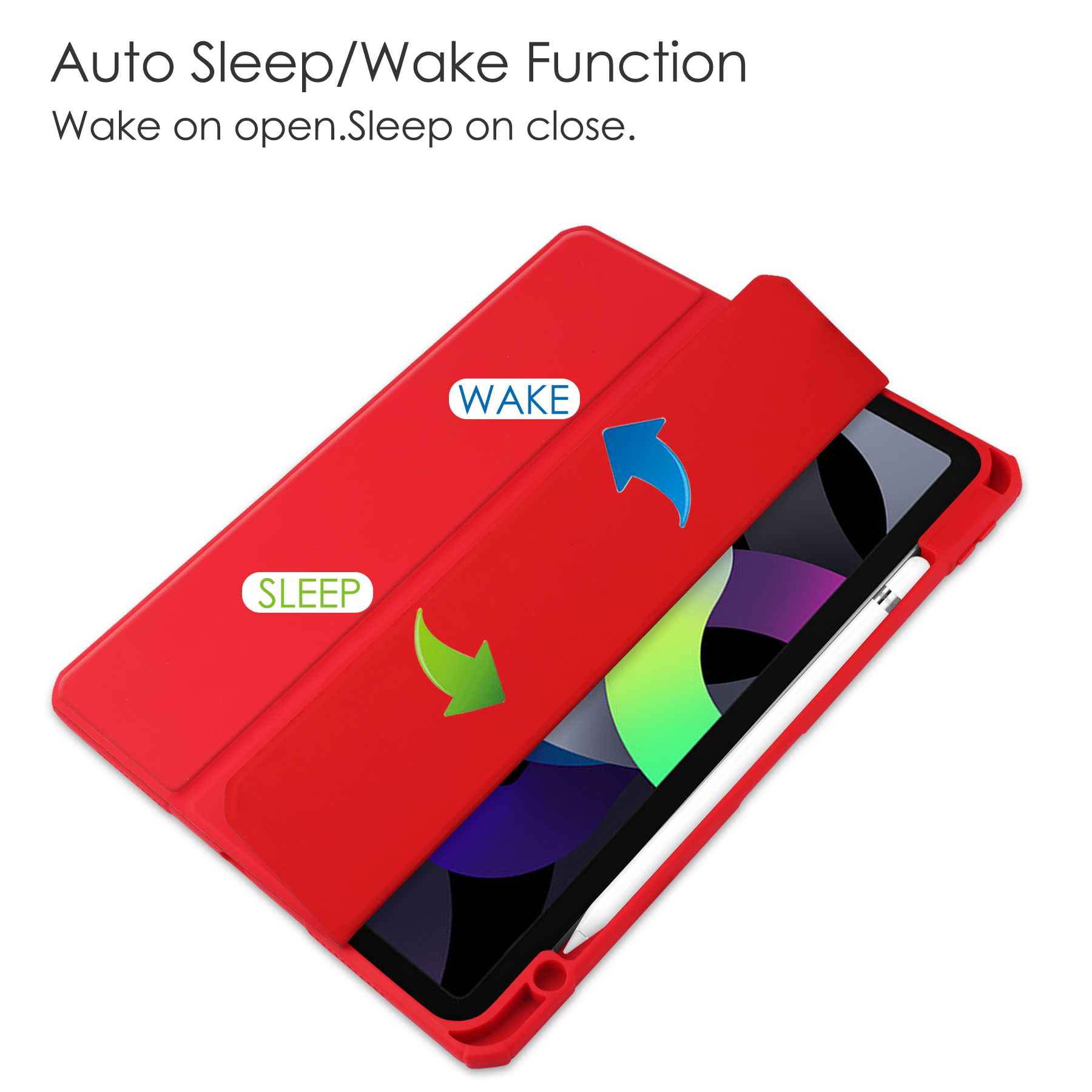 10.9 Funda inch Wake 3-folding Auto For 2020 up iPad Air Cover Case Sleep Case Tablet