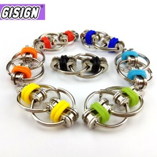 2021 Metal Puzzle Chain Fidget Toy For Autism Chain Fidget Toys Set Stress Relieve Adhd Top Hand Spinner Key Ring Sensory Toys