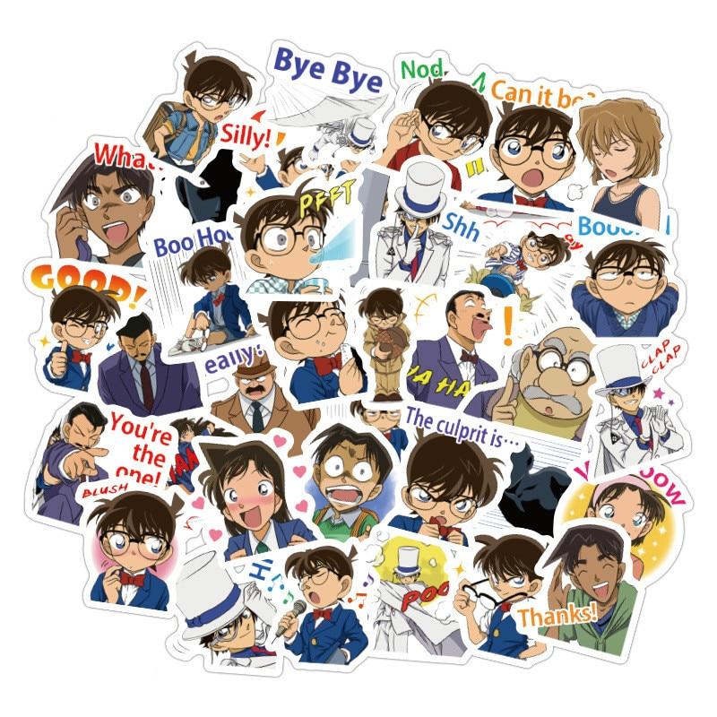40pcs/Lot Anime Sticker Detective Conan Cute Sticker Scrapbooking Stickers /decorative Sticker /DIY Craft Photo Albums
