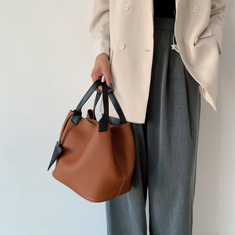 2Pcs/set Luxury Brand Women Bag Black Patent Leather Women Handbags Set Large Capacity Shoulder Bag Female Tote Bags+Wallet 4849