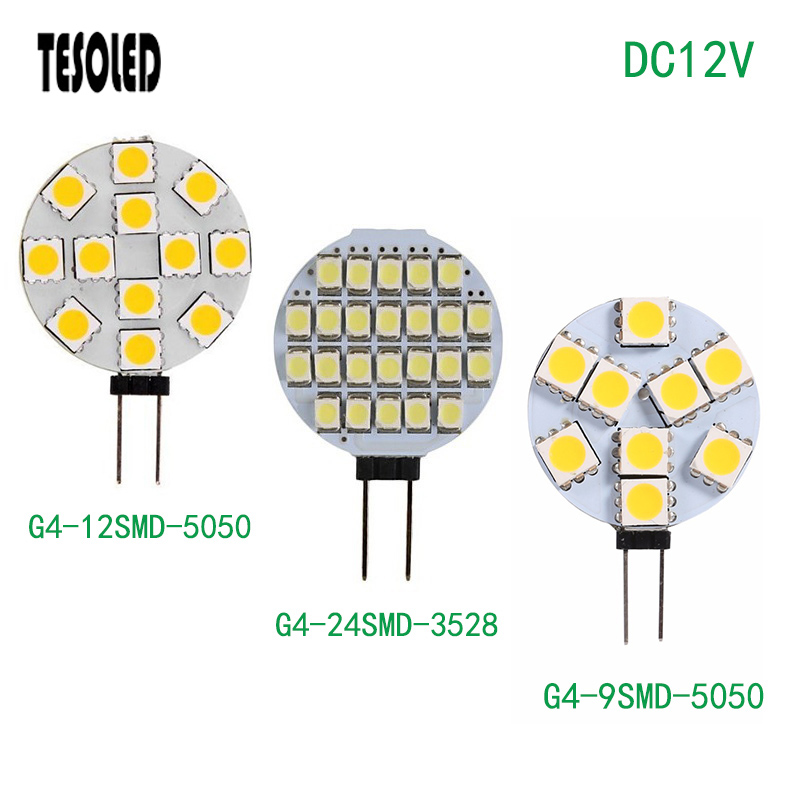 LED Light DC12V G4 Interface Led Flat Crystal Lamp 6/9/12/15/24SMD White/Warm White For For Indoor Lighting LED Light 8.19