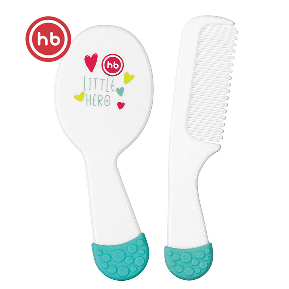 Brushes & Combs Happy Baby 17010 Set Of Childrens Hair Combs For Newborns For The Baby