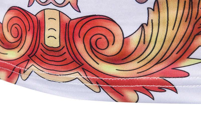 Camiseta de cuello alto estilo barroco de moda para hombre 2019 invierno nuevo jersey de cuello alto para hombre Camiseta Floral de manga larga ajustada para hombre