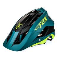 Batfox capacete de ciclismo montanha verde escuro capacete integralmente moldado mtb bicicleta capacete ultraleve capacete casco ciclismo|Capacete da bicicleta| |  -