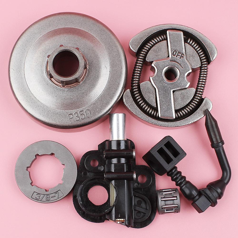 3/8 7T Clutch Rim Sprocket Rim Oil Pump Kit For Poulan 1900 1950 1975 2050 2055 2075 Chainsaw 530071259 530047061 530014949