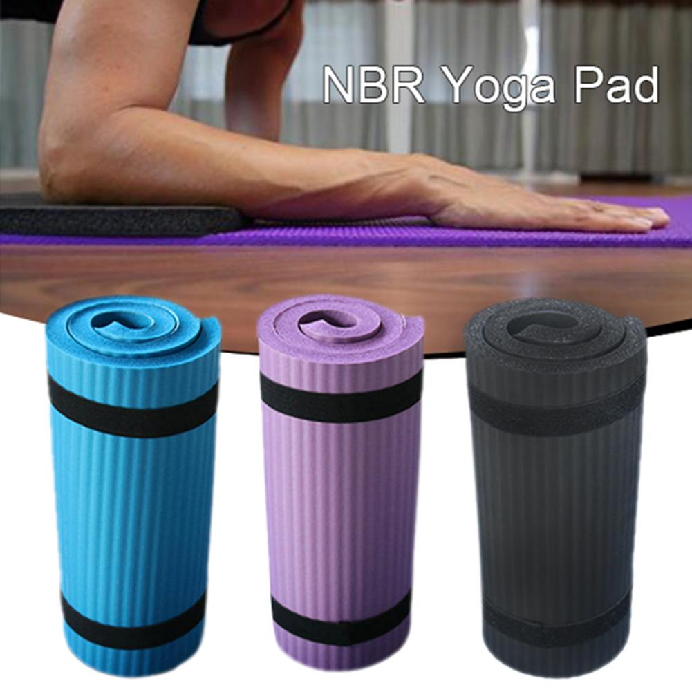 Yoga Mat Thick NBR Yoga Pad for Workout Training Abdominal Exercise 9