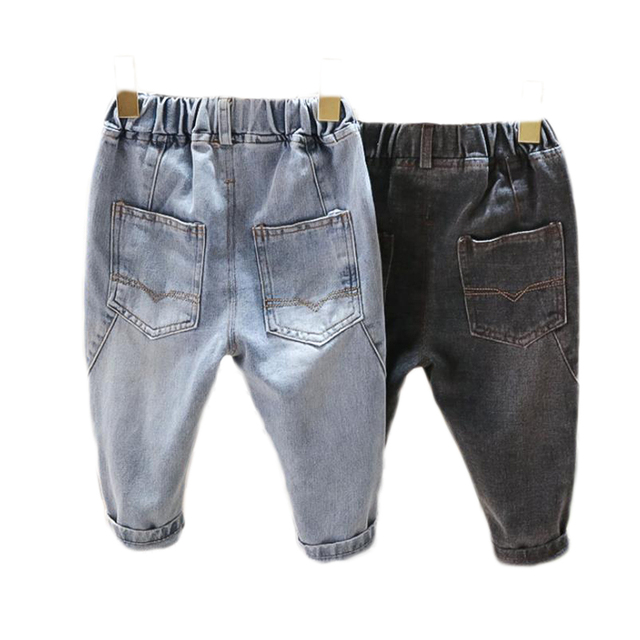 Boys Cartoon-Printed Straight Jeans