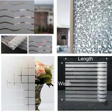 3D Static Glue-free Office Decorative Film Glass Heat Insulation Privacy Window Bedroom door Sticker Home Decor
